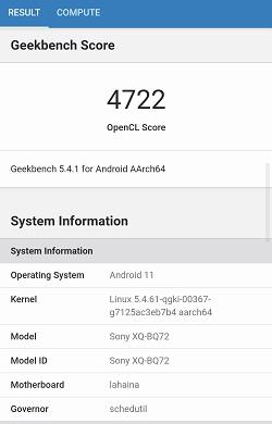 Xperia 5 III のGeekbenchベンチマークスコア