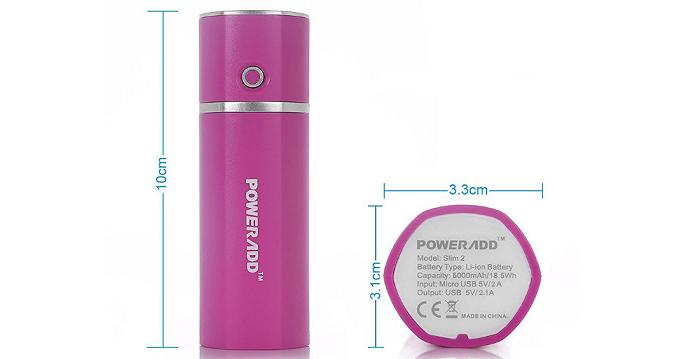 女性に似合うかわいい系モバイルバッテリー「Poweradd Slim2 5000mAh」をレビュー!