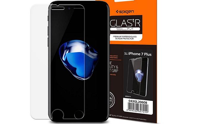 iPhone7 Plus用ガラスフィルム「Spigen GLAS.tR SLIM」をレビュー!