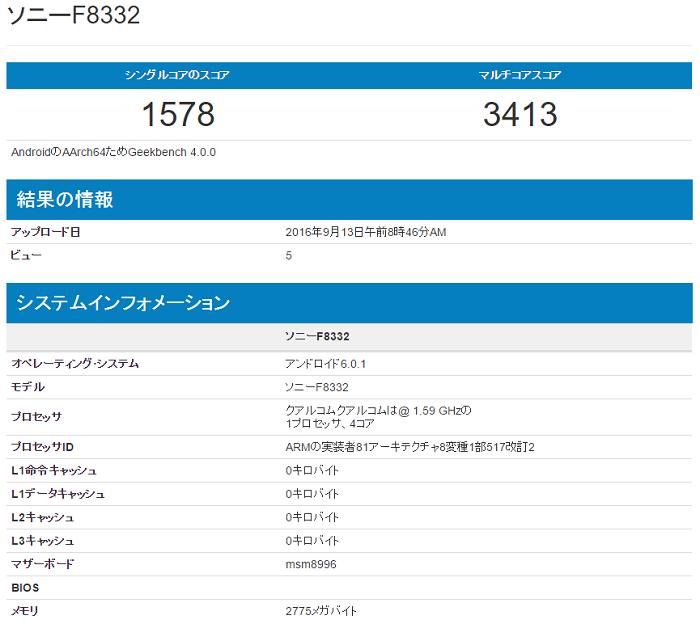 Xperia XZのベンチマークテストの結果がリーク!「Performance」との違いは