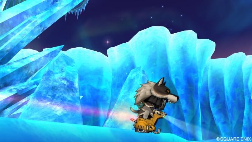 「ナドラダイト鉱石」と「天竜草」が拾える氷の領界キラキラマラソン