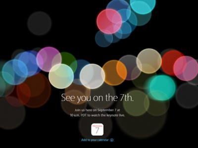 iPhone7発表のスペシャルイベントが日本時間の9月8日2時から開催決定!