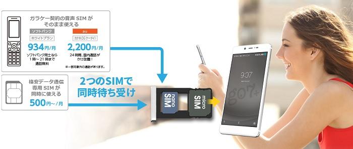 デュアルSIM・デュアルスタンバイ(DSDS)