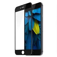 iP7B【新方式100%強化ガラス】 iPhone 7 4.7 Black ブラック 黒