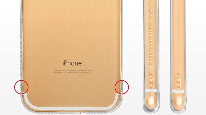 iPhone7用シンプルクリアケース「Highend berry ハイブリットクリアケース」をレビュー!
