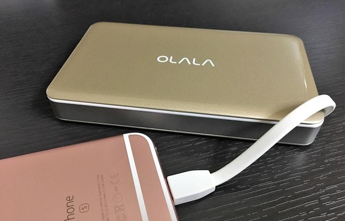 Lightningケーブル内蔵型モバイルバッテリー「OLALA 7500mAh」をレビュー!