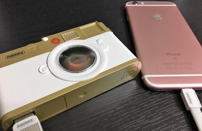 クラシックカメラ風モバイルバッテリー「LYCRA」をレビュー!