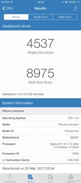 iPhone8(iPhone Edition)の処理能力は最強!ベンチマークスコアがリーク!!