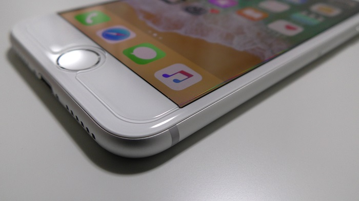 iPhone 8用ガラスフィルム Spigen「GLAS.tR SLIM」をレビュー!
