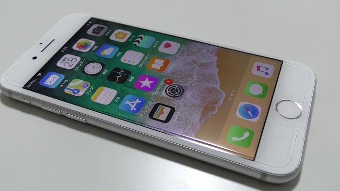 DOLPHIN47 EDGE「iPhone 8用液晶保護ガラスフィルム」をレビュー!