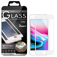 iPhone8 3D ガラスフィルム全面保護 ソフトフレーム BEGALO