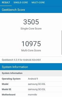 Galaxy S10 のGeekbenchベンチマークスコア
