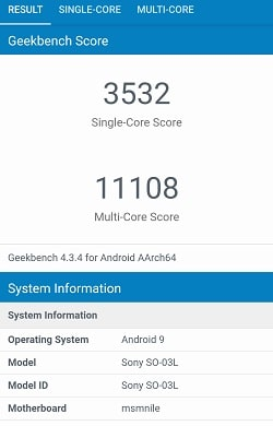 Xperia 1のGeekbenchベンチマークスコア