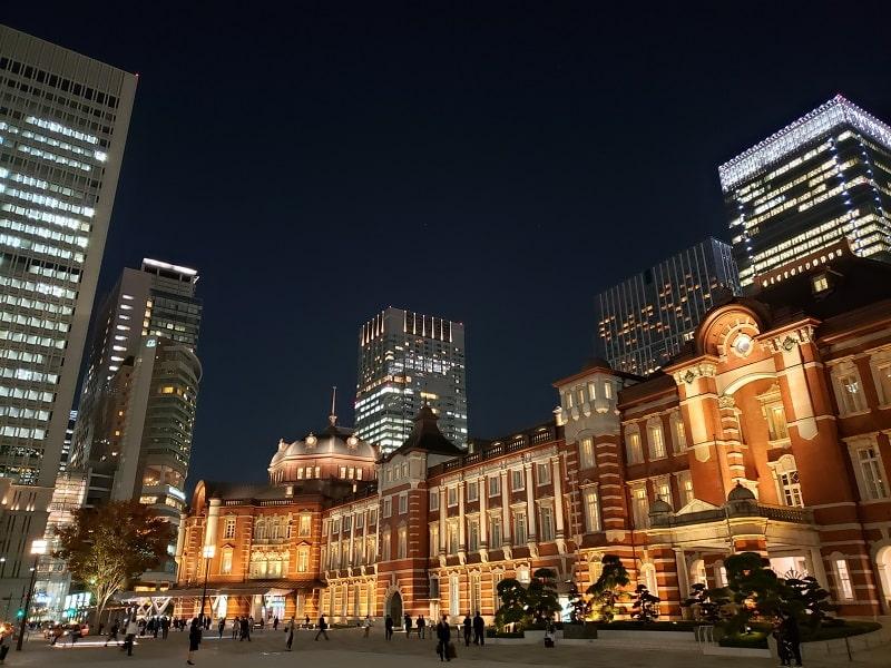 Galaxy Note9 SC-01Lで撮影した東京駅