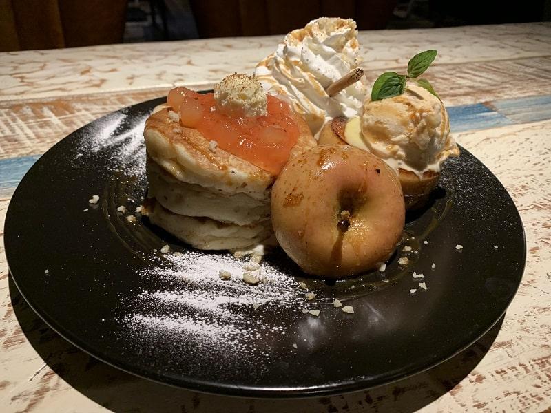 iPhone XRで撮影したパンケーキ