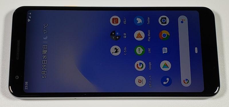 Google Pixel 3aのディスプレイ