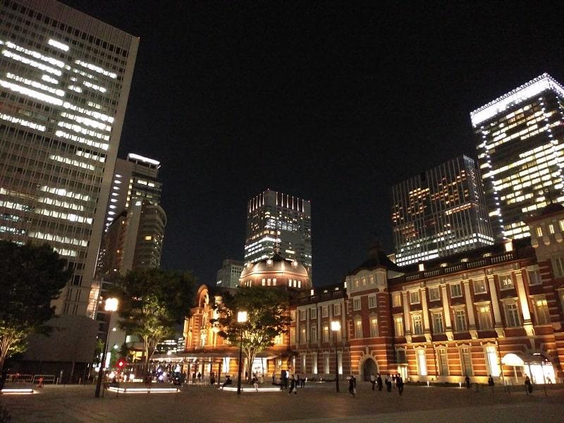 arrows Be3 F-02Lで撮影した夜の東京駅