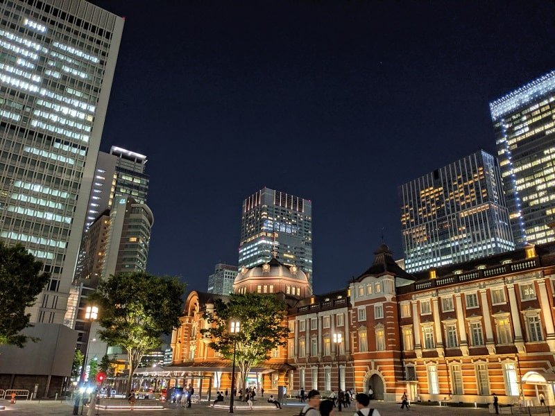 Google Pixel 3aで撮影した東京駅
