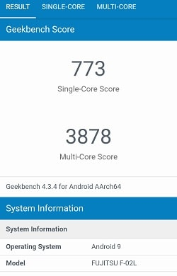 arrows Be3 F-02L のベンチマークスコアGeekbench
