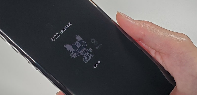 Galaxy S10+ Olympic Games Edition のディスプレイ