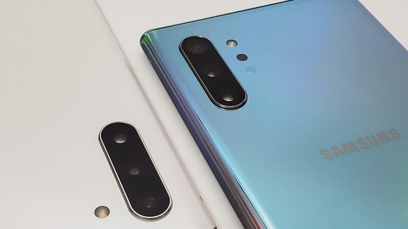 Galaxy Note10とGalaxy Note10+の背面カメラ