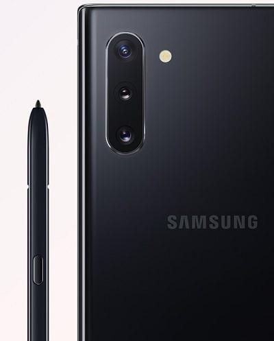 Galaxy Note10 のカラーバリエーションオーラブラック