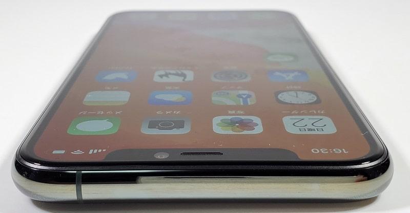 iPhone 11 Pro の本体上部