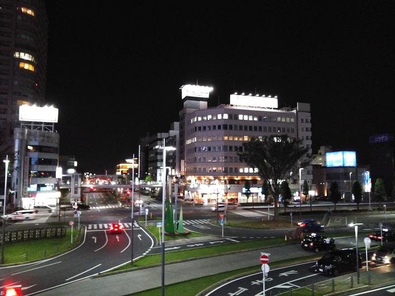 ORQUE G04で撮影した夜の高崎駅