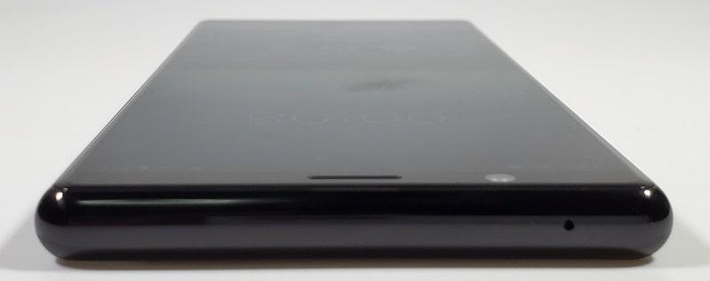 Xperia 5 の上部デザイン