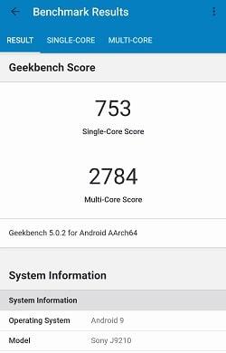 Xperia 5のGeekbenchベンチマークスコア