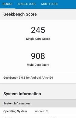 Galaxy A20 のGeekbenchベンチマークスコア
