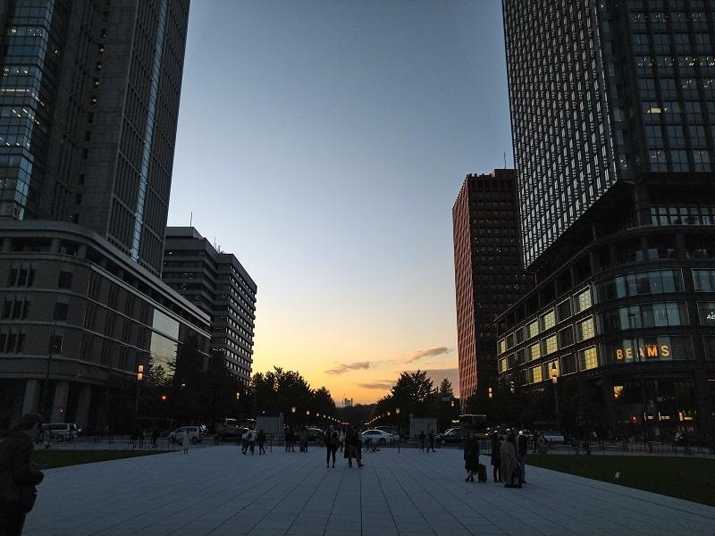 Xperia 8 のカメラで撮影した夕景