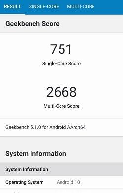 AQUOS zero2 のGeekbenchベンチマークスコア