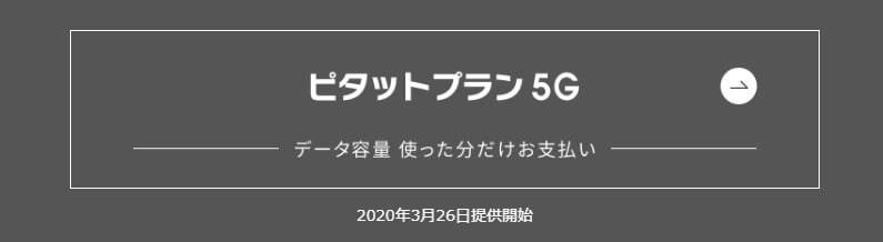 使った分だけの ピタットプラン 5G