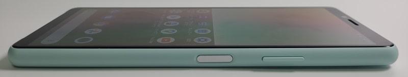 Xperia 10 II の側面デザイン
