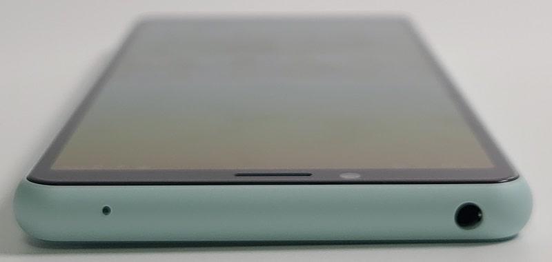Xperia 10 II の上部デザイン