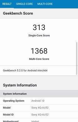 Xperia 10 II のGeekbenchベンチマークスコア