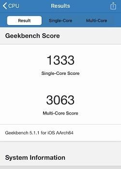 iPhone SE(第2世代)のGeekbench
