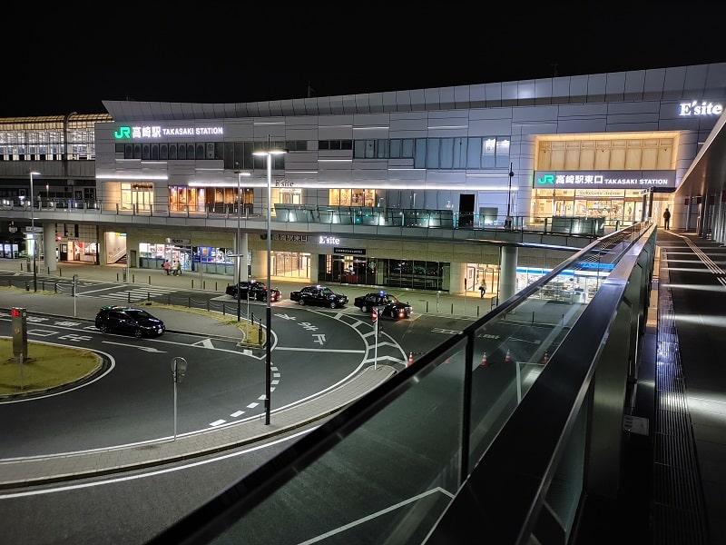 LG V60 ThinQ 5Gのカメラで撮影した夜景