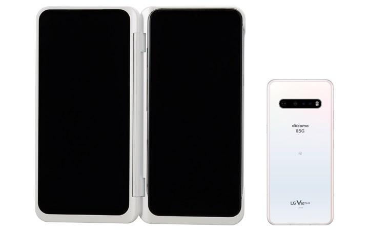 LG V60 ThinQ 5G のカラーバリエーションクラッシーホワイト