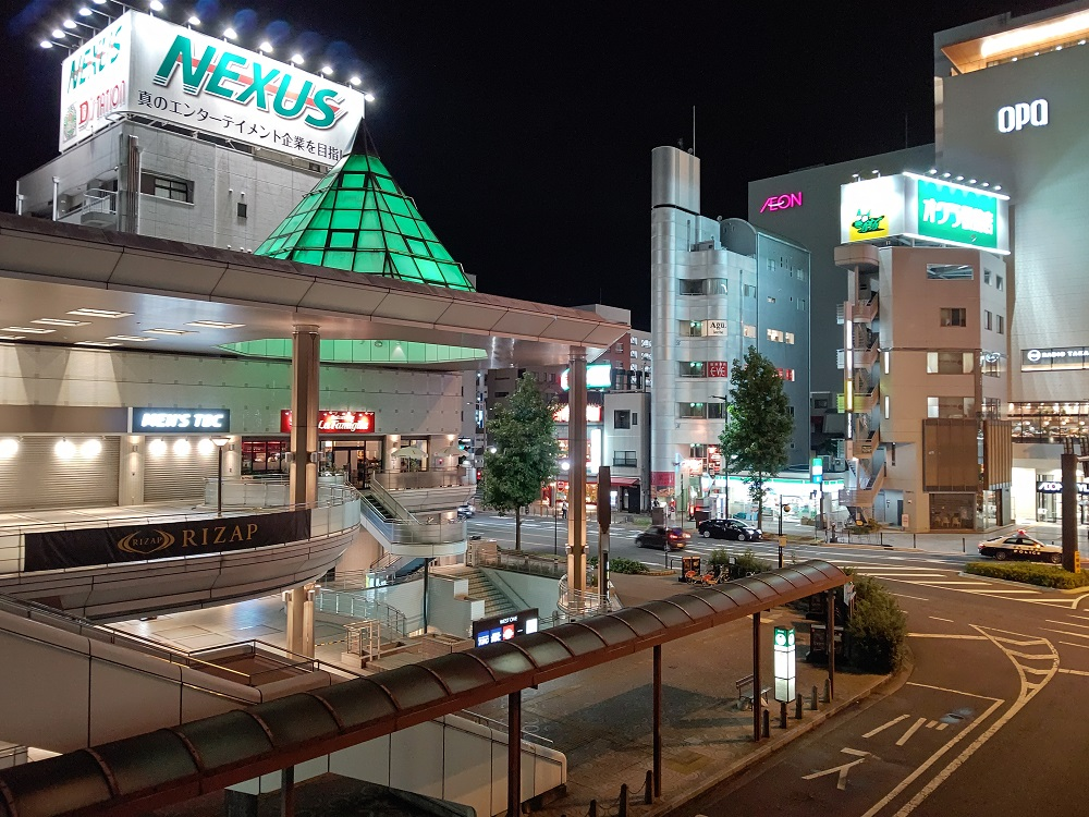 AQUOS R5Gのカメラで撮影した夜景