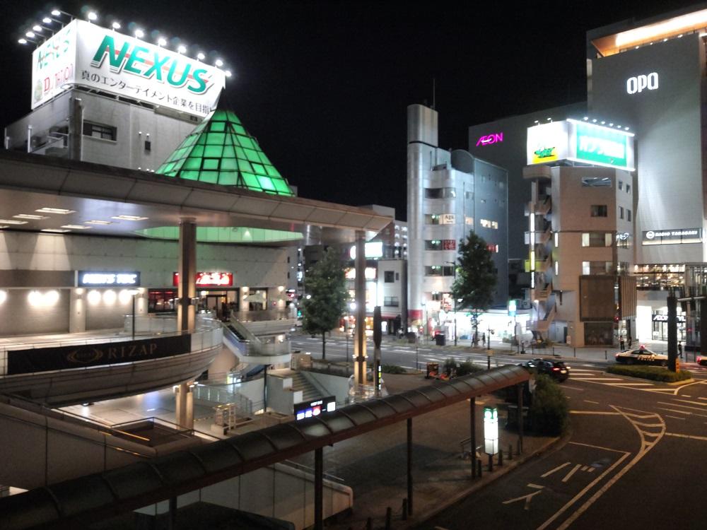 arrows 5Gのカメラで撮影した夜景