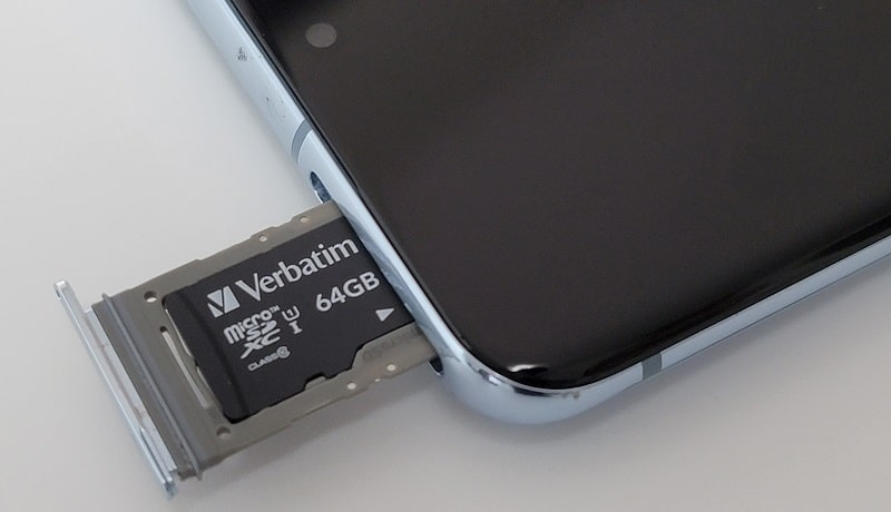 Galaxy S21の指紋認証部分