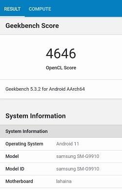 Galaxy S21 のGeekbenchベンチマークスコア