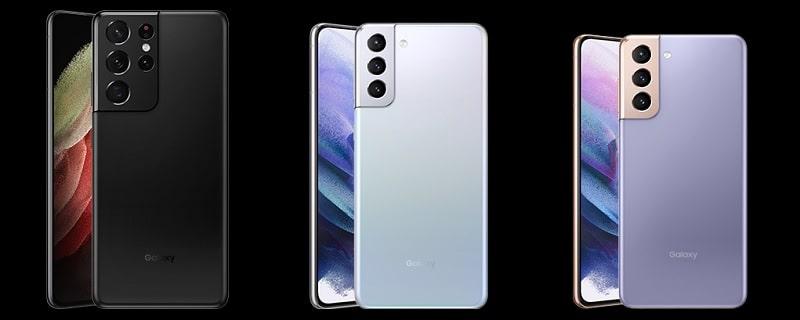 Galaxy S21 のカラーバリエーション
