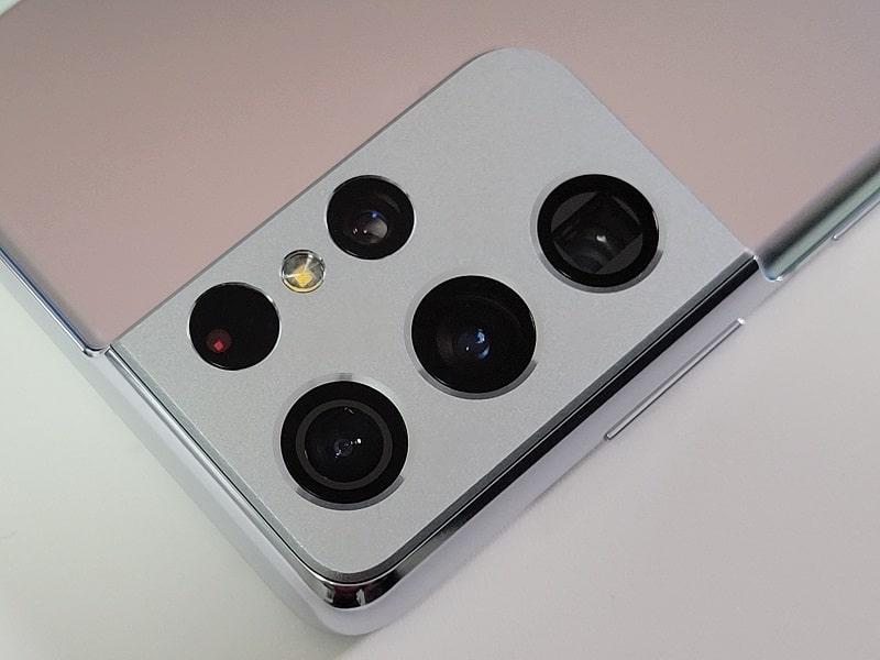Galaxy S21 Ultraのカメラデザイン